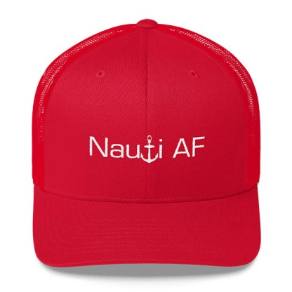 Nauti AF Trucker Hat in Red
