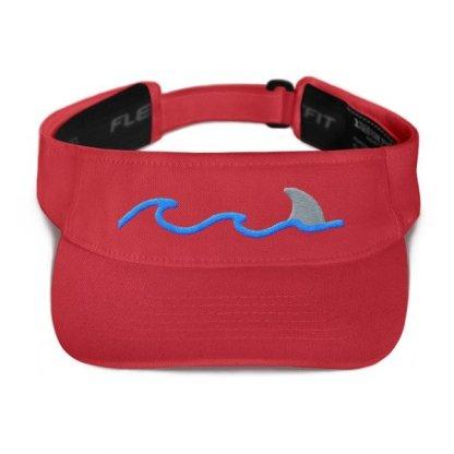 Shark Fin Visor in Red