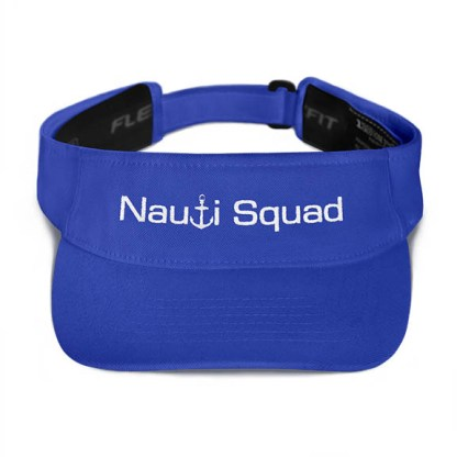 Nauti Squad Visor in Royal with White