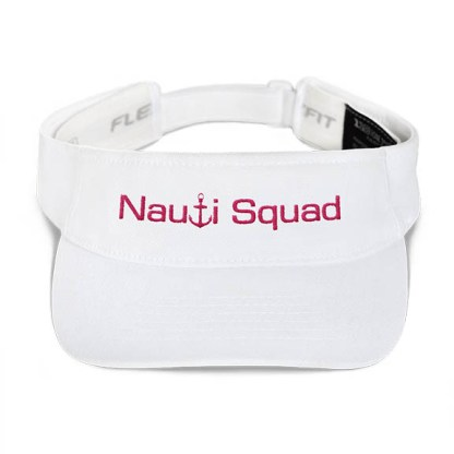 Nauti Squad Visor in White with Pink