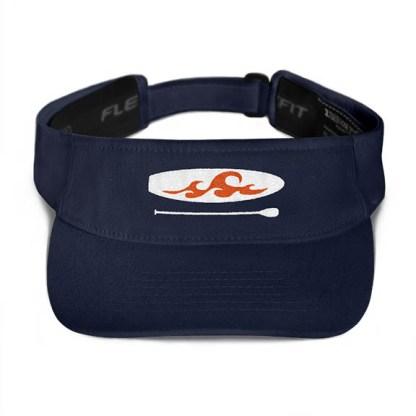 Paddleboard visor in Navy with Orange