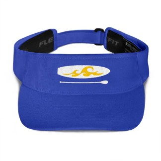 Paddleboard visor in Royal with Gold