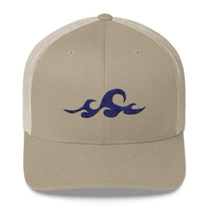 Waves Trucker Hat in Khaki