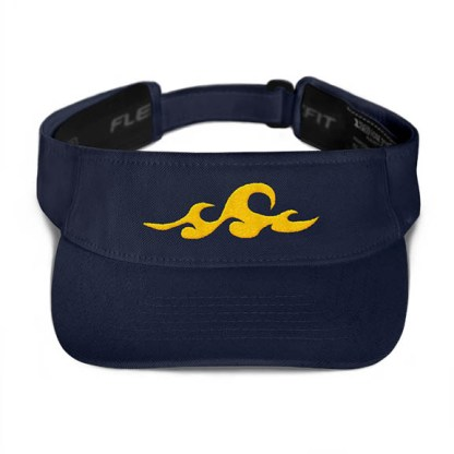 Ocean Waves Visor in Navy with Gold