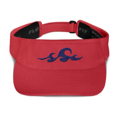 Ocean Waves Visor in Red