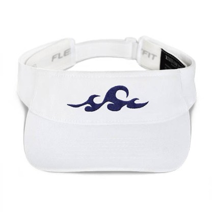 Ocean Waves Visor in White
