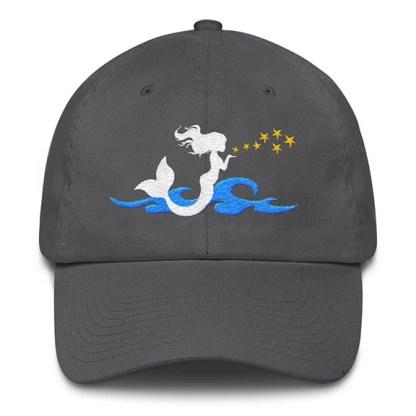 Mermaid Kisses Baseball Hat Grey