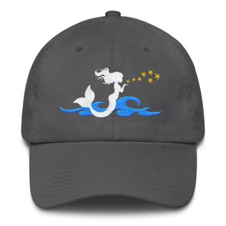 Mermaid Kisses Baseball Hat Grey