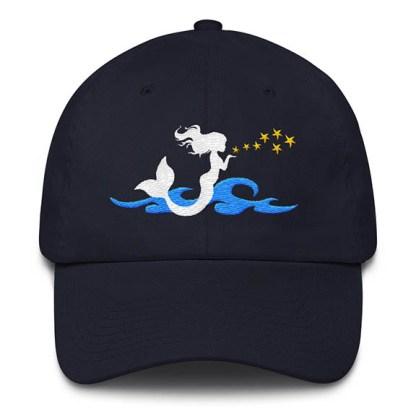 Mermaid Kisses Baseball Hat Navy