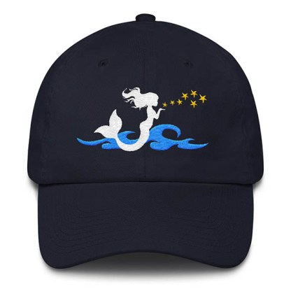 Mermaid Kisses Baseball Hat Navy