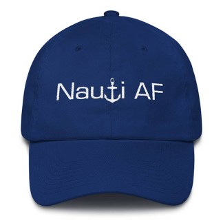 Royal Blue Nauti AF Baseball Hat
