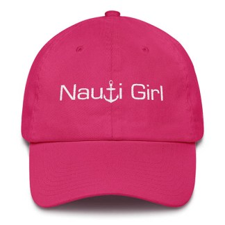 Nauti Girl Baseball Hat Hot Pink