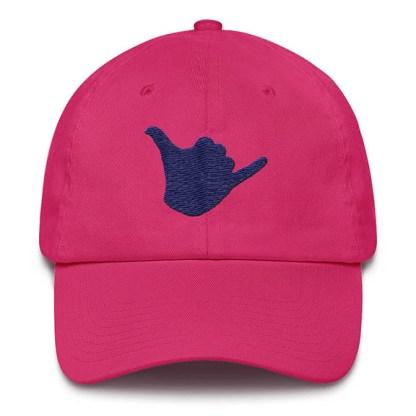 Shaka Baseball Hat Hot Pink