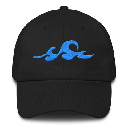 Waves Black Baseball Hat