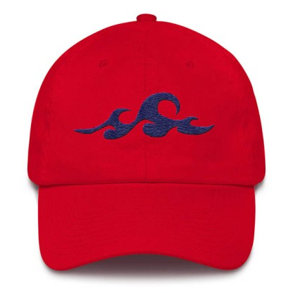 Waves Red Baseball Hat