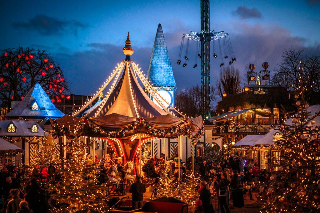 christmas market in copenhagen denmark