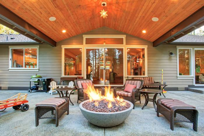 outdoor lighting ideas for patios - fire pits