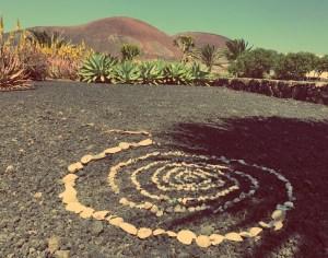 Volcano view from the villa in Lajares / Fuerteventura