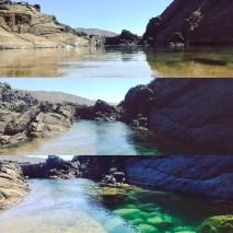 Natural pools in Aquas Verdes