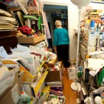 woman and her clutter