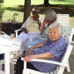 seniors relaxing outside