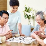 Asian couples playing Go
