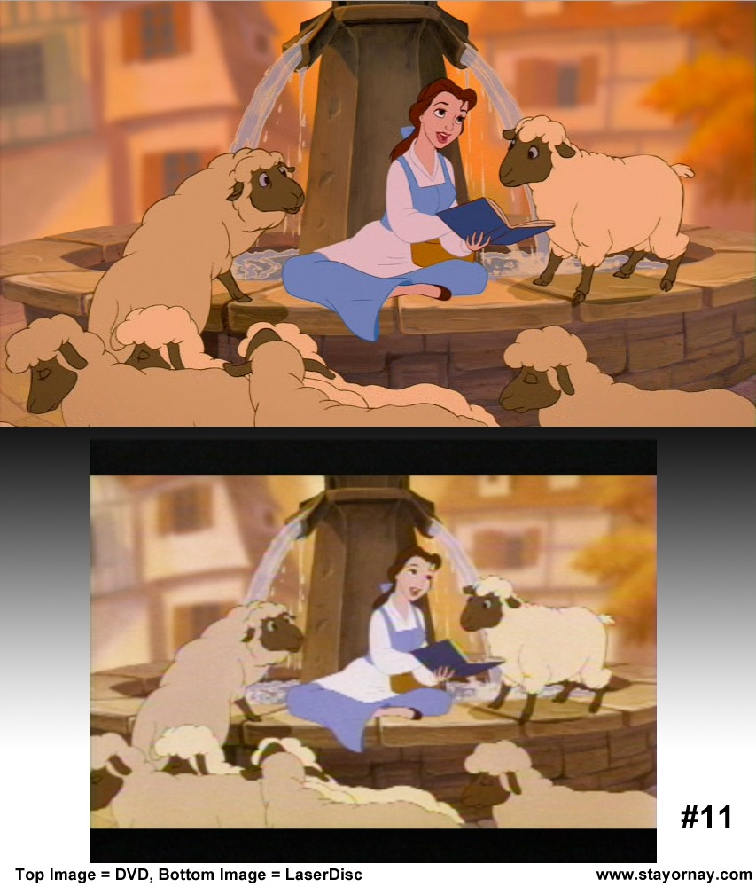 Beauty and the Beast  Work In Progress LD vs DVD  Toons Database