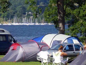 Stunning lakeside views await camping guests