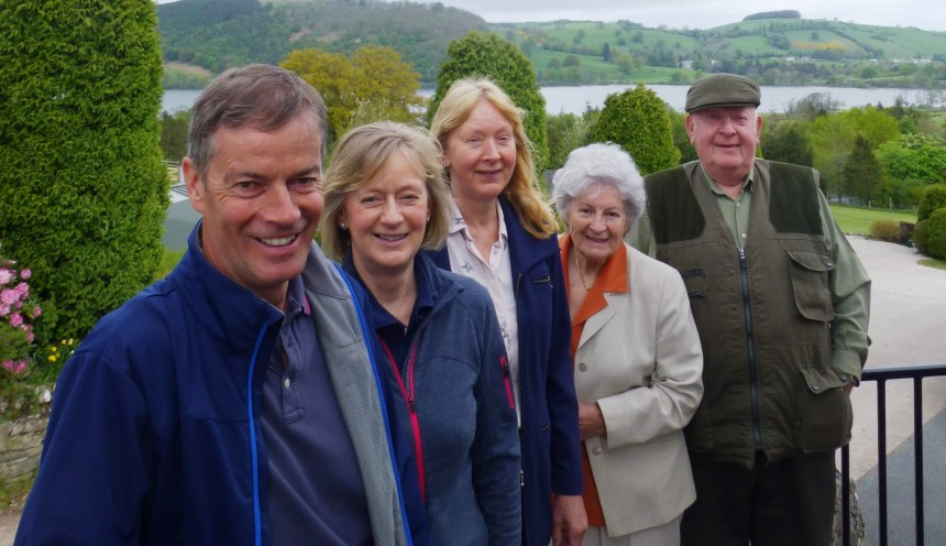 Family celebrates: pictured (left to right) are Malcolm Bell, Fiona Bell, Barbara Allen, and park founders Evelyn and Jimmy Allen.