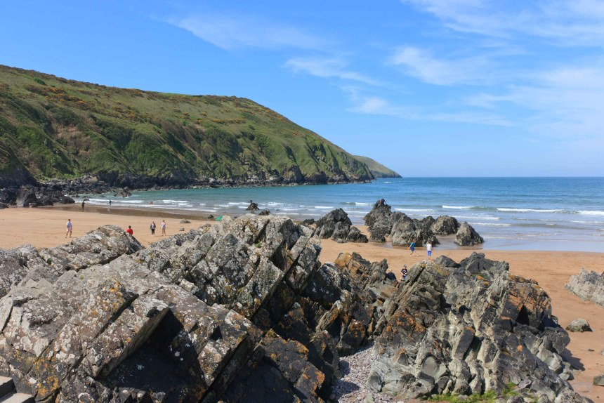 Putsborough beach, above, is just one of the many nearby magnificent sandy coves enjoyed by visitors to Tarka Holiday Park