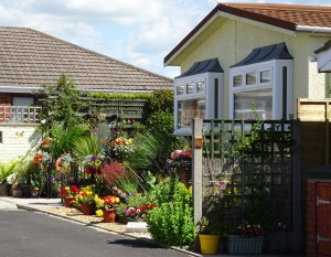 Park homes have their own gardens