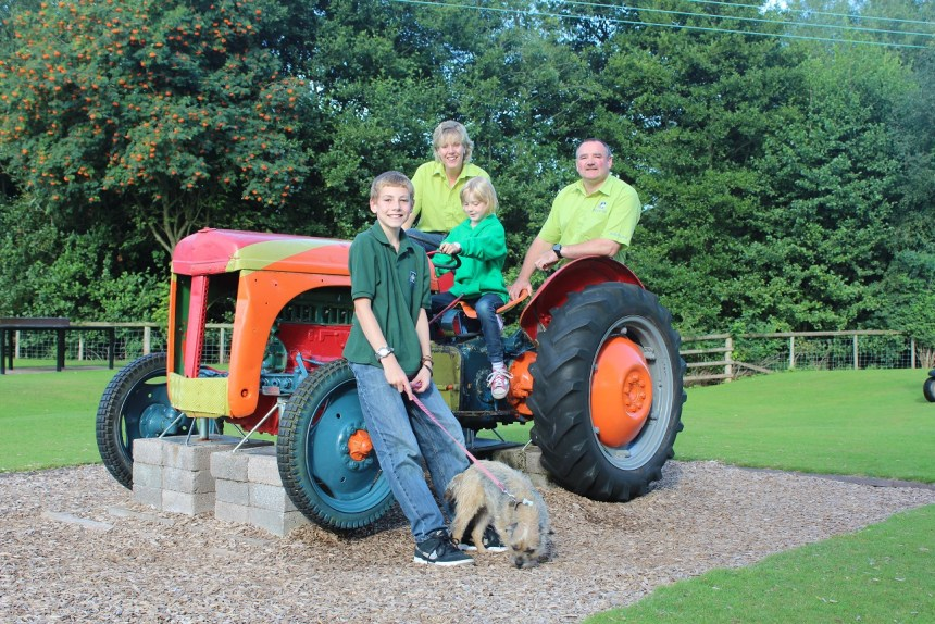Riding high: Poston Mill owners Sarah and Wayne Jones with their children Lewis and Connie
