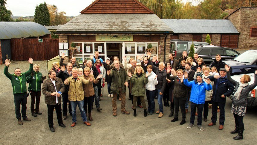 Park owners from the Best of British group (above) take a study tour of multi-award winning Poston Mill