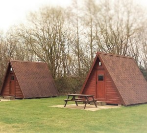 Glamping pods, timber built and fully equipped, are a popular choice at the park