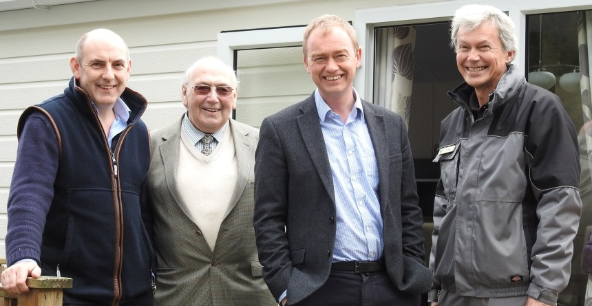 Pictured are (from left) park directors Henry Wild and his father Syd, Tim Farron, and warden Raymond Cox