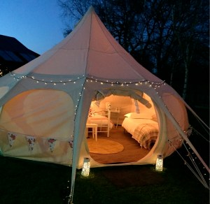 Lotus Belle glamping tents are praised for their design flair