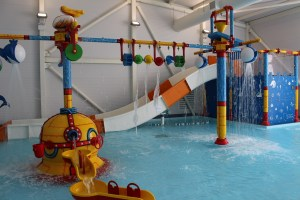 A smaller splash: youngsters have their own activity play-zone in the pool