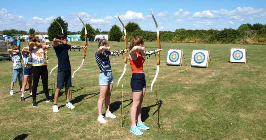 Take a bow: learning new skills, such as archery, adds another dimension to summers holidays, says the park