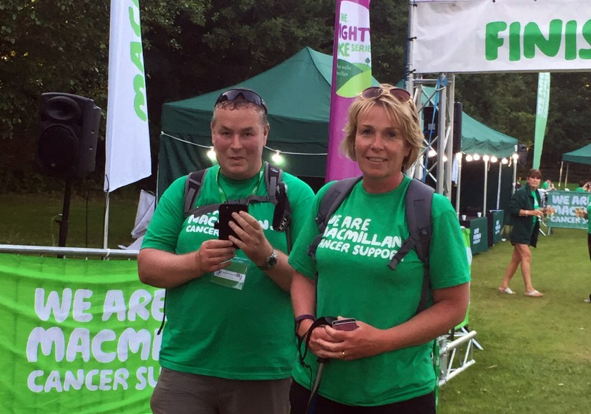 We walked it! Paul and Ruth reach the end of their marathon trek having scooped an £800 charity windfall