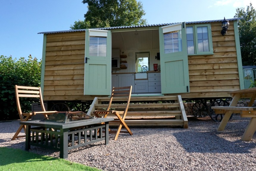 Guests are flocking to shepherd's huts at The Old Oaks for a taste of luxury living in cosy surroundings