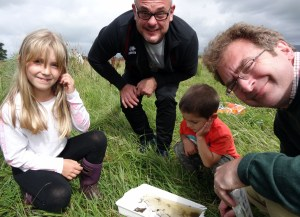 Rufus Bellamy (right) at the park's recent wildlife discovery day