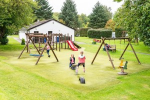 Family fun: part of the popular play area at Lomond Woods
