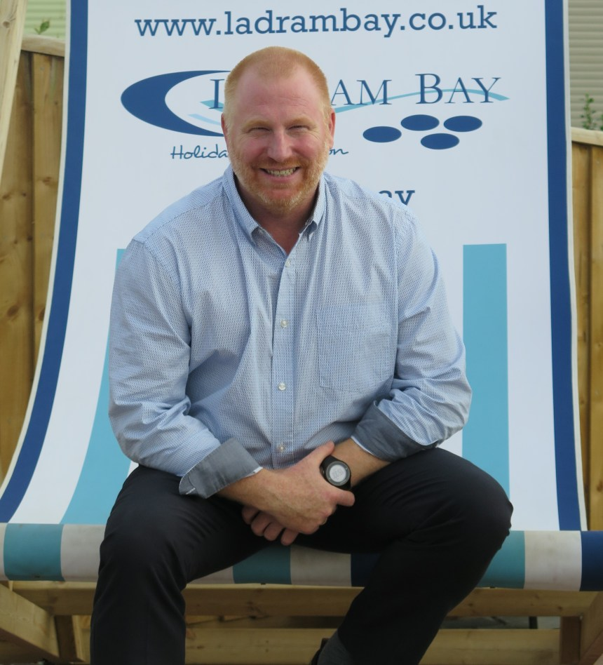 In the hot seat: former commando Steven Harper-Smith is now the general manager at five-star Ladram Bay
