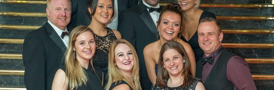 Makers of happy memories: members of the Ladram Bay team are pictured at November's Devon Tourism Awards