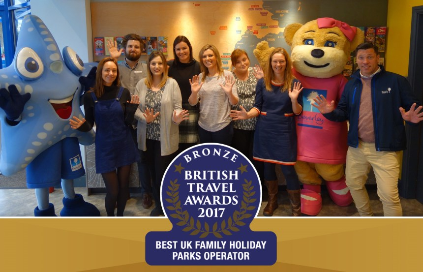 """Thanks, everyone!"" Votes from guests propelled Beverley Holidays into the finals of the British Travel Awards"