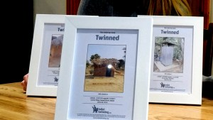 Photos of the twinned toilets overseas are on display