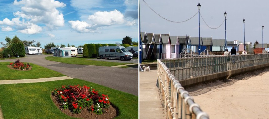 Peace and quiet for adults only, Cherry Tree Springs (left) is just a stroll away from Sutton-on-Sea's sandy beaches