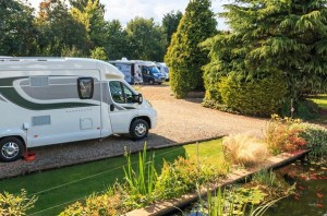 Guests enjoy the park's tranquil surroundings in the Mendip Hills