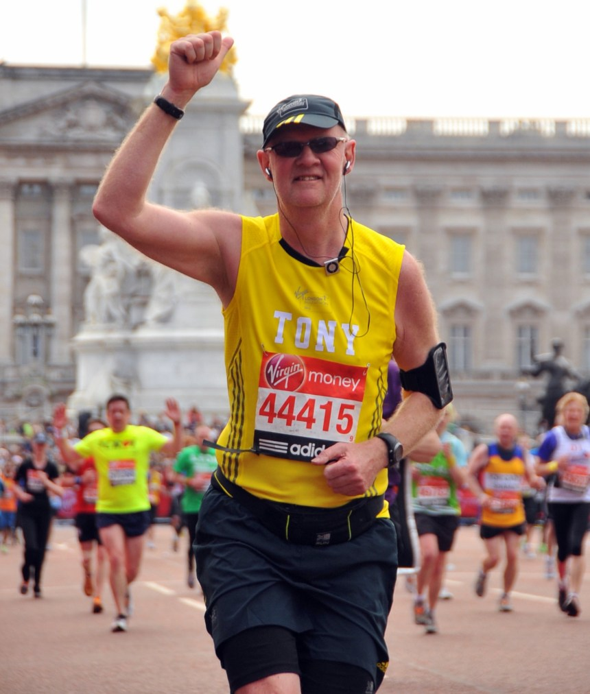 London run, and it's New York and Berlin next for Tony Clish as he salutes charity staff at Park Holidays UK