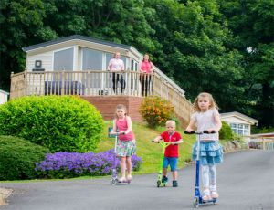 Holiday guests enjoy superb country views across the park